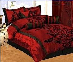 i want a black and red bedroom decor. thats what i will have when i get a place!