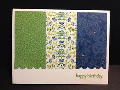 A Family Reunion Birthday Super Quick, and Super Easy card Stampin' Up! Rubber Stamping  Birthday Card