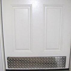 Todd Manufacturing Diamond Plate Aluminum Door Bottom Kick Plate - Diamond Plate - The Garage Store