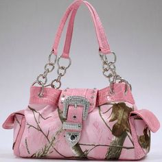 Real Tree® Pink Camo Bling Buckle Shoulder Bag , $59.00 https://www.maceeleigh.com/#marcez