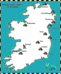 Map of Castles in Ireland | english was set up henry stayed in ireland over the winter months ...