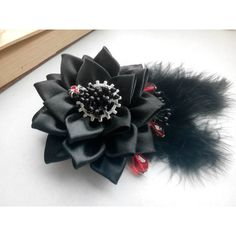 Kanzashi flower/Kanzashi hair clip/Steampunk Fasciantor /Steampunk... (£7.09) ❤ liked on Polyvore featuring accessories and hair accessories