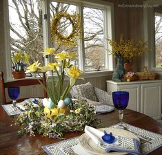 Yellow is the perfect splash for a rooms Metamorphosis :: Spring Decor :: AnExtraordinaryDay.net