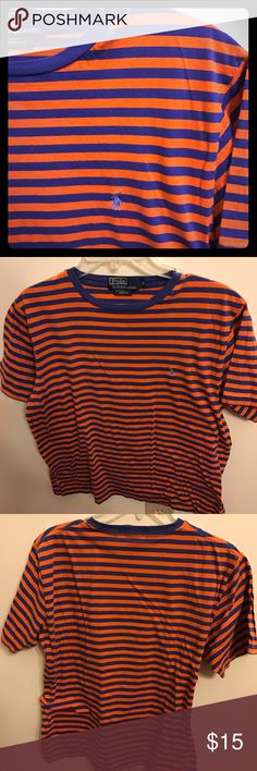 Striped polo crew neck tee Great condition! Offers welcome! Polo by Ralph Lauren Shirts Tees - Short Sleeve