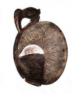 Arte africana: Mascara da etnia Songye - madeira entalh..