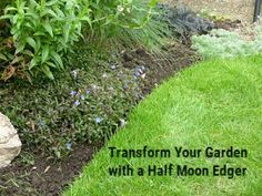 Looking for a quick and easy way to give your garden a lift? A simple #half #moon #edging #tool transforms your garden by neatening the edges, and defining one garden space - the flower beds from the others - such as your lawn. Click the link below to find out how easy it is to do #halfmoon #edger