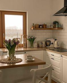 Nordic Interior, Apartment Interior, Kitchen Decor, Kitchen Design, Nordic Kitchen, Interior Decorating, Interior Design, Laundry In Bathroom, House Rooms