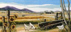 Sweeping Plains Cross Stitch Image