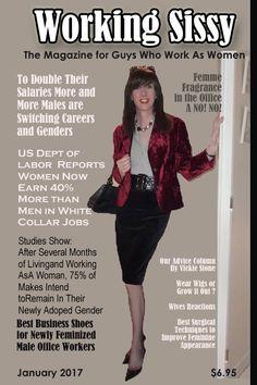 Switching Careers, Feminized Boys, Tg Caps, Tg Captions, Transgender, Magazine, Women, Woman, Magazines