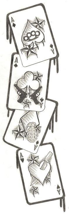 Cards Tattoo Design by ~Nixxxxx on deviantART