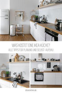 Alle Tipps für Planung und selbst aufbauen der IKEA Küche Kitchen Cost, Galley Kitchen Design, Industrial Kitchen Design, Best Kitchen Designs, Ikea Metod Kitchen, Kitchen Cabinets, L Shaped Kitchen, Kitchen Stories, Küchen Design
