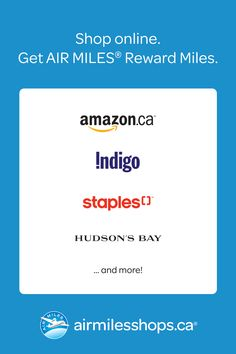 Get Rewarded at online retailers Air Miles Rewards, Just Shop, Savings Plan, Mexican Food Recipes, Halloween Ideas, Back To School, Online Shopping, Household, Tech