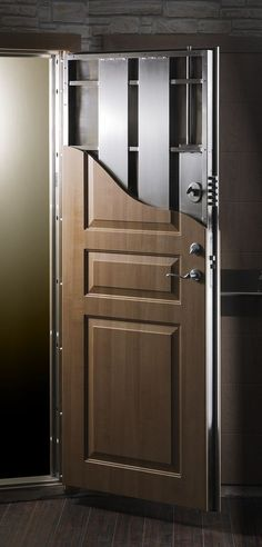 SECURE doors \u0026 windows - ://.hardenedstructures.com/residential & Steel door covered in Luxury Wood. A must have all around the ... Pezcame.Com