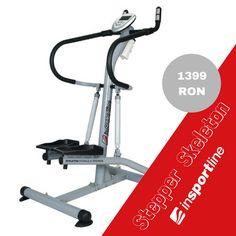 Stepperul inSPORTline Skeleton are un cadru stabil, cu manere rigide si cu senzori pentru puls incorporati in manere. Stepperul prezinta 2 amortizoare robuste si 12 niveluri de rezistenta. ⬇💪💪🏃♂ Skeleton, Stationary, Bike, Heart Rate, Bicycle, Skeletons, Cruiser Bicycle, Bicycles