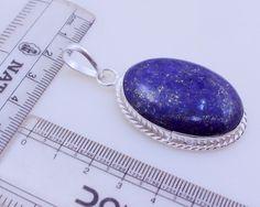 free shipping Ms-6 Stunning Lapis Lazuli .925 Silver Handmade Pendant Jewelry 18 Gr. by SILVERHUT on Etsy