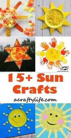 sun kids craft - spring craft - crafts for kids- kid crafts - acraftylife.com #preschool #kidscraft #craftsforkids