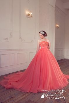 華やかなキャンディーピンクのエアリーカラードレス SS1960CP