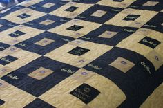 Vic's Finished Queen Size Black and Gold Crown by LuluBelleQuilts, $300.00