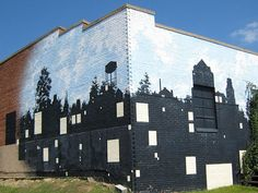silhouette commercial murals - Google Search