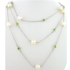 Peridot and Pearl Stone by the Yard paradisojewelry.com wholesale sterling and genuine gemstones