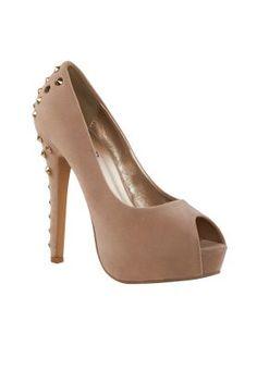 773bf75bfd7 Beige peep toe heels by Spurr Peep Toe Heels