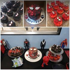 Spider-Man into the Spider-Verse birthday cake by The Love Muffin Cafe My Son Birthday, 6th Birthday Parties, Birthday Bash, Birthday Party Decorations, Birthday Party Invitations, Spider Man Party, Spiderman Invitation, Avengers Birthday, Party Cakes