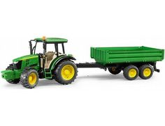 The John Deere 5115M Tractor With Trailer from the Bruder Tractor collection.  One of our favourite models in the Bruder Tractor and Trailer range is the Bruder John Deere 5115M With Trailer.