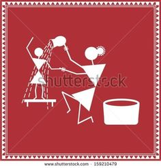 Find Indian Tribal Painting Warli Painting stock images in HD and millions of other royalty-free stock photos, illustrations and vectors in the Shutterstock collection. Worli Painting, Saree Painting, Kerala Mural Painting, Indian Art Paintings, Madhubani Painting, Fabric Painting, Traditional Paintings, Traditional Art, Mini Canvas Art