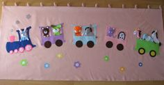 interactive wall-hangings with fingerpuppets