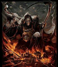 Fear the Reaper Death Reaper, Grim Reaper Art, Grim Reaper Tattoo, Don't Fear The Reaper, Arte Horror, Horror Art, Dark Fantasy Art, Dark Art, Totenkopf Tattoos