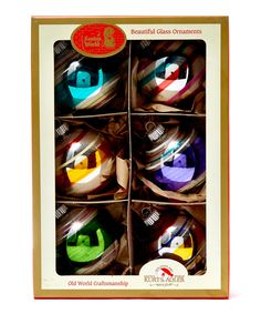 Early Years Coloured Globe Baubles | Christmas | Liberty.co.uk