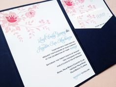Wedding Invitation  Vintage Floral by LittleSparkCreations on Etsy, $5.95