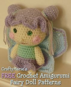 Free crochet amigurumi fairy doll patterns - a collection of links to free patterns
