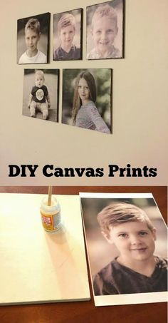 DIY Canvas prints.  So easy and so cheap!