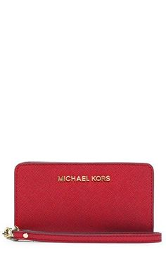 MICHAEL Michael Kors Saffiano Leather Tech Wristlet available at #Nordstrom