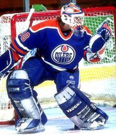 Bill Ranford stopped 56 shots during a 1993 game against New York Rangers. Ice Hockey Teams, Hockey Goalie, Hockey Players, Hockey Stuff, Nhl, Goalie Pads, Edmonton Oilers, National Hockey League, New York Rangers