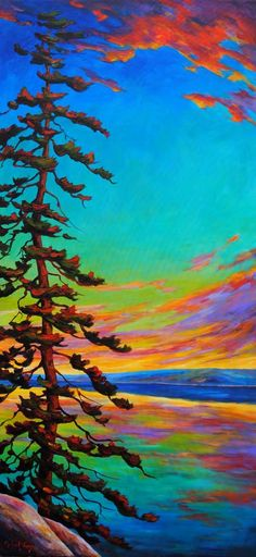 # SUNRISE - acrylic by ©Michael Foers - www.crescenthill.com/gallery/michael_foers/170916