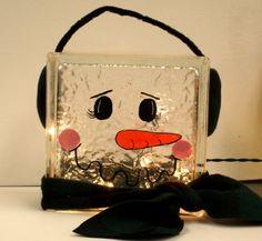 The Purple Pumpkin Blog: 19 Ideas for Christmas Decorated Glass Blocks