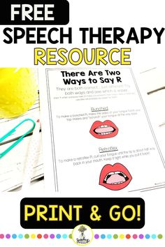 Need to conquer that R sound? Enter your name and email address to sign up to get this free R sound speech therapy resource. Articulation Therapy, Articulation Activities, Therapy Games, Speech Therapy Activities, Phonological Processes, Language Development, Speech And Language, Kids Education, Email Address