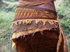 Egyptian Embroidery Ethnic Terracota Brown Belt by AnuttaraCrafts, $70.00  #handmade #festival clothing