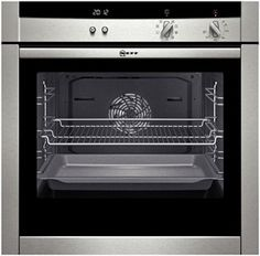 NEFF B45M52N3GB. A powerful oven featuring with a new elegant silver steel coloured display and innovative Slide® door, providing you with more room for movement in the kitchen as well as better access to the oven