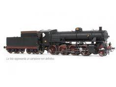 Rivarossi HR2458 Locomotiva a vapore Gr 744.006 FS, DCC sound, con tender a carrelli, ep. lll.
