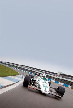 —— Ayrton  Senna -  Williams FW08C —— The first test on car f1 ———