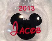 Mickey Personalized Christmas Ornament