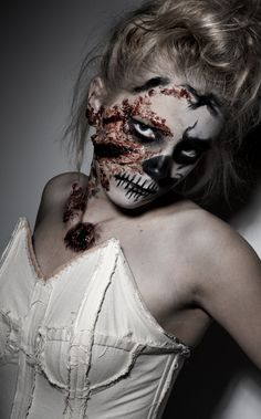 My Halloween project designed by me using different prosthetic pieces and special effects makeup carried out by myself