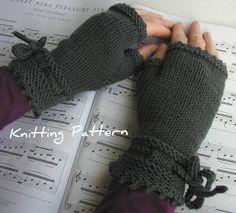 Piano Gloves Knitting Pattern