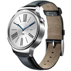 a408622cd247 Huawei Smartwatch 42mm Stainless Steel w/ Black Leather Strap $199.99  Android Wear, Android 4