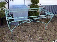 Vintage wrought iron Salterini Maple leaf dining by thegraygarden