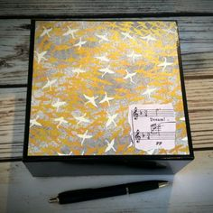 Great gift idea for him! Keepsake box with seagulls, old map and vintage sheet music.