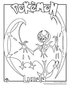pokemon coloring pages lunala - bubakids - bubakids | kleurplaten, pokémon, kleuren